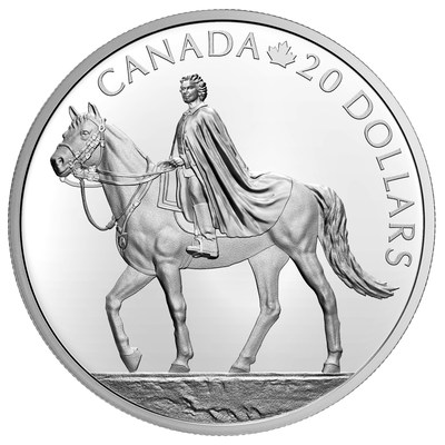 La moneda de la colección de plata de la Real Casa de la Moneda de Canadá celebra el 95º cumpleaños de la Reina (reverso)