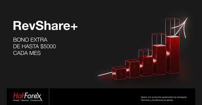 RevShare+ Obtenga un Bono Extra de Hasta $5000