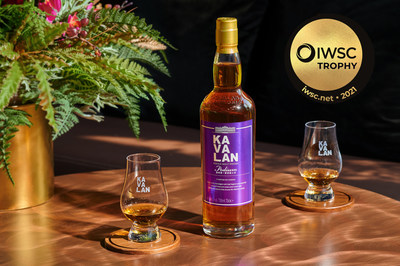 Kavalan Podium gana trofeo en la categoría Worldwide Whiskey de los premios IWSC 2021