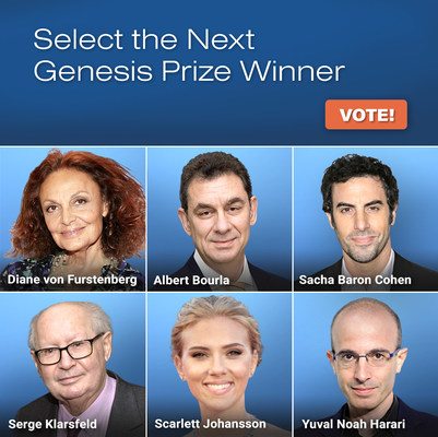 Image from the 2022 Genesis Prize Voting Campaign